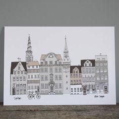 Copenhagen Buildings Cityscape Print