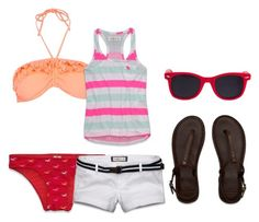 """""""~☼~"""" by inbxtween ❤ liked on Polyvore featuring Hollister Co., River Island, Abercrombie & Fitch and American Apparel"""