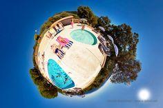 Miniplanete - La Piscine de l'Azur Hotel du Lavandou by Laurent Brancaleoni (portfolio LittlePlanets). Tirages en vente sur http://esphera.darqroom.com/portfolio/littleplanets-95639