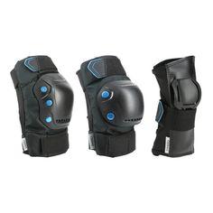 Conceput pentru a proteja coatele, genunchii şi palmele în timpul deplasărilor pe role, skate, trotinetă.