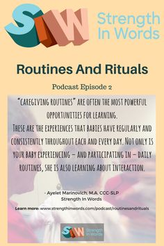 Episode 2: Routines & Rituals — Strength In Words