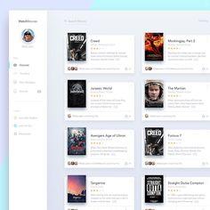 "via Muzli. ""Movie/Cinema UI Inspiration"" is published by Muzli in Muzli - Design Inspiration. Dashboard Design, Ui Ux Design, Blog Design, Graphic Design, Card Ui, Desktop Design, Ui Design Inspiration, Design Ideas, Ui Web"