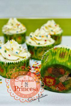 Cupcakes de princesa sin gluten