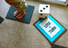 Turn your favorite board game into life-size for an extra special family game night!