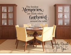 "Meals And Memories Are Made Here"" This Simple And Sentimental Alluring Dining Room Wall Quotes Review"