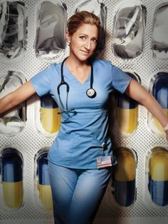 Pin for Later: 17 TV Shows That Ended in 2015 Nurse Jackie Edie Falco scrubbed in for the last time in June. Nurse Jackie, Halloween Outfits, Megan Leavey, Theatre Outfit, Contemporary Theatre, Eve Best, Hello Nurse, New York Daily News, Best Tv