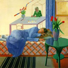 David Hockney, né en 1937 à Bradford au Royaume-Uni, est un peintre et photographe anglais. Il est une figure du mouvement Pop Art des années 1960.