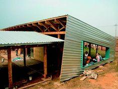 Modern Architecture Design, Vernacular Architecture, School Architecture, Sustainable Architecture, Residential Architecture, Amazing Architecture, Shed Design, Building Design, Africa Painting
