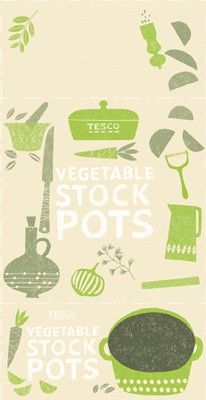 stock pots,  illustrations by Debbie Powell for Jamie Oliver and Tesco.