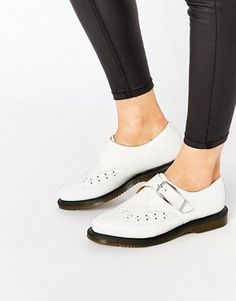 Dr Martens Rousden Pointed Toe Monk Strap Flat Shoes