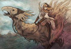 Los famosísimos chocobos...me encantan estos animalillos de los Final Fantasy