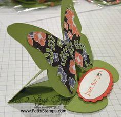 SU Beautiful Butterflies Die Easel Card - bjl