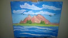 landscape acryl paint