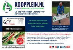 Onze geweldige actie in samenwerking met Catering De Hofmeester uut Drenthe loopt nog steeds. Doe mee en win! http://koopplein.nl/middendrenthe/10201246/flyeractie-met-catering-de-hofmeester-uut-drenthe.html
