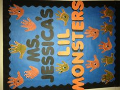 Halloween Bulletin Board Idea--but with monsters instead of handprints??