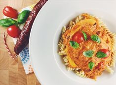 Pasta met chorizo, ricotta en venkel
