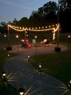 Cheap and easy backyard fire pit and seating area (34)
