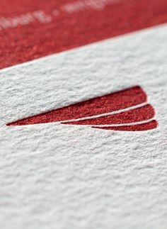 Detail Business Card with deep impression | Letterpress Manufaktur Hamburg