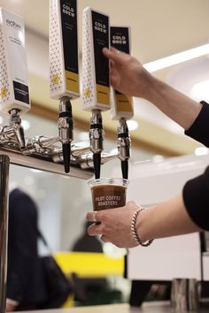 Nitro cold brew coffee on tap – by PILOT COFFEE ROASTERS Coffee Brewer, Espresso Coffee, Best Coffee, Coffee Shop, Nitro Cold Brew, Making Cold Brew Coffee, Nitro Coffee, Coffee Carts, Coffee Branding