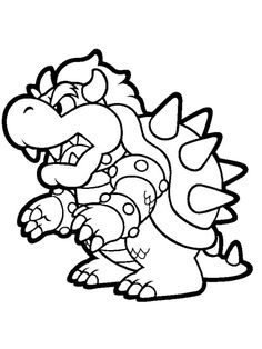 Cute and Complete Super Mario Coloring Pages. The name of Super Mario is of course so popular in the kids' world. In fact, Super Mario is a series of fantasy pl