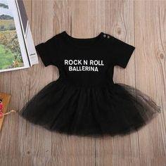 Black Rock and Roll Ballerina TuTu Dress – Silly Little Ditties