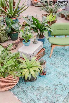 Stek Magazine Botanisch Wonen styling woontrend duurzaam Urban Jungle groen planten kelim ©BintiHome
