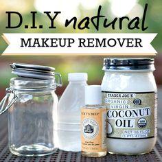 Natural Eye Makeup Remover natural make up diy Natural Makeup Remover Recipe & 4 Ways To Reduce Eye Injury Belleza Diy, Tips Belleza, Natural Eye Makeup, Natural Eyes, Natural Beauty, Natural Face Wash, Natural Oil, Organic Makeup, Beauty Care