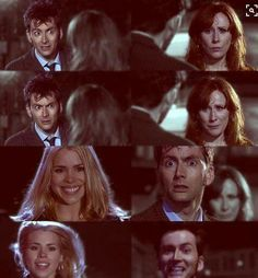 """Doctor Who """"Journey's End"""" (4x13) - Ten and Rose reunion<< look at that boy's face when he sees her"""