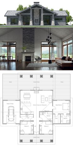House Design 100 Need To Change The Locating Of Kitchen To An Outside Wall  Then Make Laundry Room And Pantry Connected. Home Plan 199