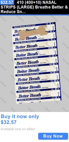 Other Sleeping Aids: 410 (400+10) Nasal Strips (Large) Breathe Better And Reduce Snoring Right Now BUY IT NOW ONLY: $32.57