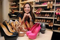 Over the top shoe collector: Beth Shak with some of her 1,200 pairs of shoes worth an estimated $1,000,000