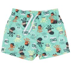Love this! at Polarn O. Pyret UK & Ireland OCTOPUS PRINT KIDS SWIM SHORTS #polarnopyretuk #qualitychildrensclothes #colourfulkidsclothes Allover print swim shorts. The thigh-length shorts have an inner lining of airy mesh fabric. Elasticated waist and drawstring.