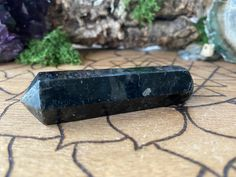 Excited to share this item from my shop: Genuine Nuummite wand from Greenland. Healing Crystals and Healing Stones. Healing Crystals, Healing Stones, Crystals And Gemstones, Power Of Meditation, Meditation Stones, Altered State Of Consciousness, Rare Crystal, Crystal Decor, Crystal Meanings