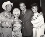 Roy Rogers, Barbara Mandrell, Bill Anderson, and me