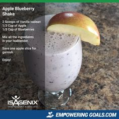 Amazing protein shake recipes by Isagenix. Learn how the amazing Isalean Shake can fuel you with 24 grams of indentured protein as well as needed vitamins and minerals to make a complete meal replacement shake that tastes amazing Protein Shake Diet, Protein Shake Recipes, Smoothie Recipes, Milkshake Recipes, Clean Eating Snacks, Healthy Snacks, Healthy Eating, Healthy Breakfasts, Healthy Drinks