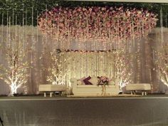 Do you need inspiration for your wedding decoration? Here we present the 40 Romantic Wedding Decoration Design. May you inspire and make wedding decorations as you wish from this article. Reception Stage Decor, Wedding Stage Design, Wedding Hall Decorations, Wedding Reception Backdrop, Marriage Decoration, Wedding Mandap, Engagement Party Decorations, Wedding Designs, Engagement Ideas