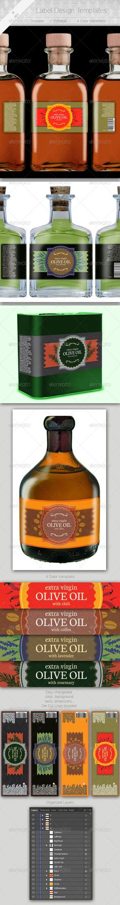 Label Design Print templates, Packaging design and Logos - label design templates