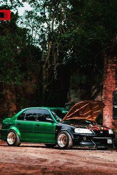 Green Black and Gold Honda City Honda City, Vintage Classics, Modified Cars, Shades, Type, Green, Gold, Black, Black People