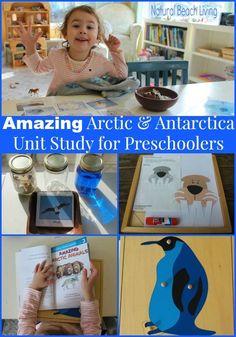 Arctic & Antarctica Activities for preschoolers, toddlers, kindergarten, Unit study, themes, polar animals, Montessori, Science, www.naturalbeachliving.com