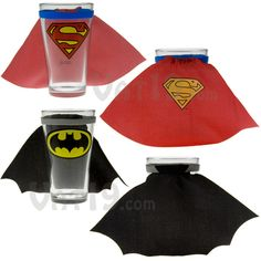 Superhero pint glasses you say?  With removable capes you say?  Well I say, here take ALL my money.