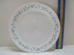 """Corelle Country Cottage 7"""" Luncheon Plate  Blue Hearts  Green Vines(715-1) #Corelle Blue Hearts, Vintage Kitchenware, Blue Plates, Vines, Cottage, Country, Tableware, Green, Ebay"""