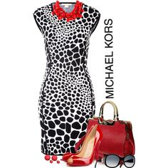 STYLE CHALLENGE: Animal Print by Michael Kors by signaturenails-dstanley on Polyvore featuring Michael Kors, Christian Louboutin, Kenneth Jay Lane and Christian Dior
