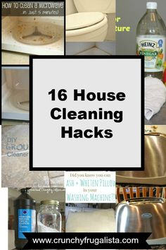 Who had time to clean? These cleaning hacks take the grime out of the job in seconds. Some don't even require scrubbing. Trust me you are going to want to pin this. #hacks #cleaninghacks http://www.crunchyfrugalista.com/house-cleaning-hacks/