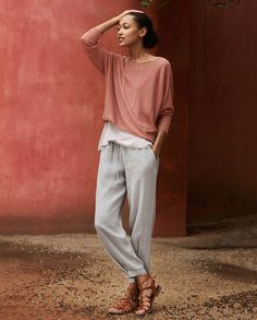 Product Image of Crinkle linen trousers #MyPoetryFavourites and #PoetryFashion