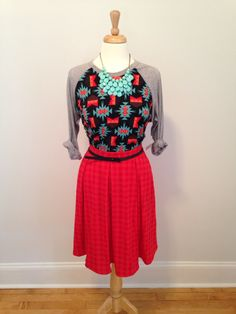 #ootd #lularoe | Randy Top and Madison skirt | Lularoe | $35 & $46  Get it here: www.facebook.com/groups/lularoebycolin/