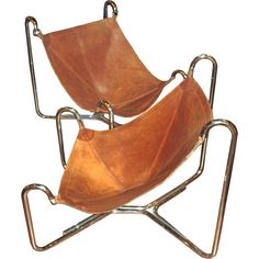Omg, I Want These In My Mouth Leather Sling Chairs