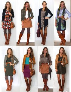 Boots with Skirts outfit ideas