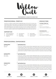 Resume Template With Photo  Job Search Planner  Professional