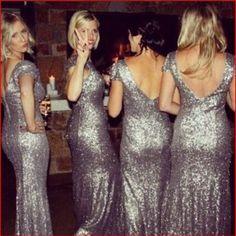 Long bridesmaid dress, sliver bridesmaid dress, sequin bridesmaid dress, glittery bridesmaid dress, bridesmaid dresses 2016,bds9283