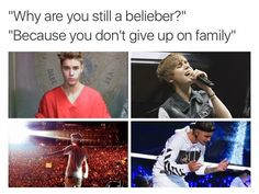 We Beliebers are one big family no one can break us down Beliebers doesn't abandon their own family